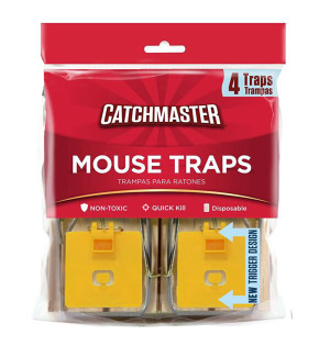 Catchmaster Mouse Snap Traps Wood 12ea/4 pk