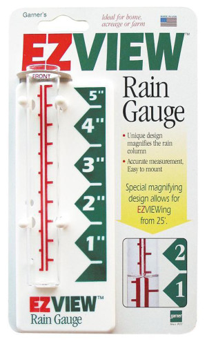 E-Z Read Rain Gauge Magnifying White 12ea