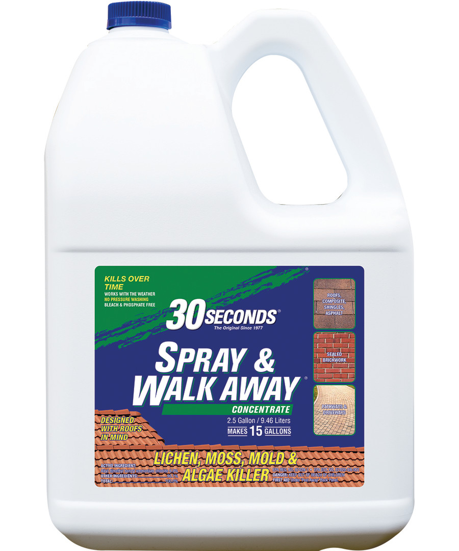 30 Seconds Spray & Walk Away Concentrate Lichen Moss Mold & Algae 2ea/2.5 gal