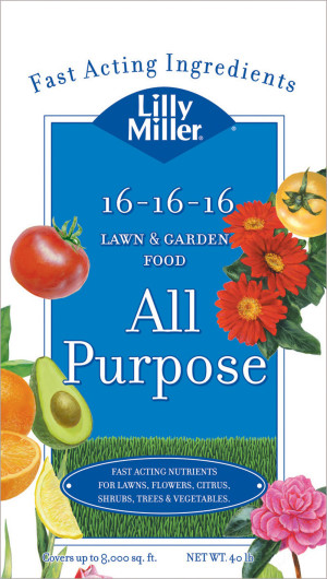 Lilly Miller All Purpose Lawn & Garden Food 16-16-16 1ea/40 lb