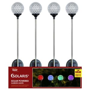 Alpine Solar Mystic Ball Color Change Stake Tray Pack 16ea