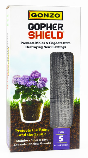 Gonzo Gopher Shield for Moles, Gophers & Voles Steel Silver 12ea/2Pk 16Inx20In 5 gal