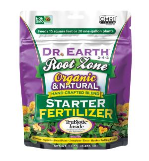 Dr. Earth Root Zone Premium Starter Fertilizer 2-4-2 12ea/1 lb