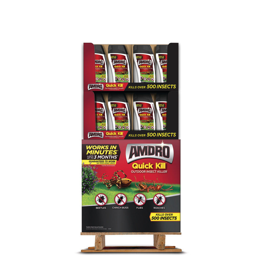 Amdro Quick Kill Outdoor Insect Killer Concentrate Qtr Pallet Display 48ea/32 oz