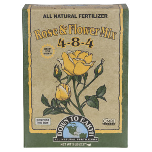 Down To Earth Rose & Flower Mix All Natural Fertilizer 4-8-4 6ea/5 lb