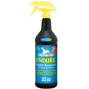 Farnam Endure Sweat-Resistant Fly Spray for Horses, 14-day Long Lasting Protection, 12ea/32 oz