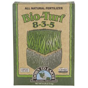 Down To Earth Bio-Turf Natural Fertilizer 8-3-5 OMRI 6ea/6 lb