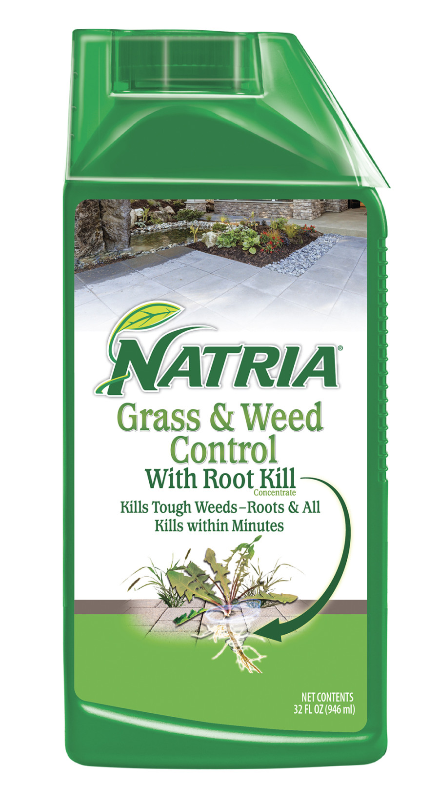 BioAdvanced Natria Grass & Weed Control w/Root Kill Concentrate Green Bottle 4ea/32 oz