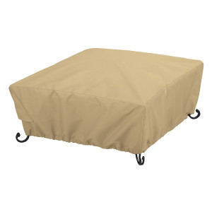 Classic Accessories Terrazzo Square Full Coverage Fire Pit Cover Brown 1ea/Small