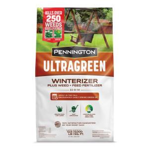 Pennington Ultragreen Winterizer Plus Weed & Feed Fertilizer 22-0-14 1ea/12.5 lb