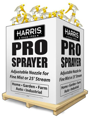 Harris Pro Trigger Spray Bottle Clear Dump Bin 108ea/32 oz