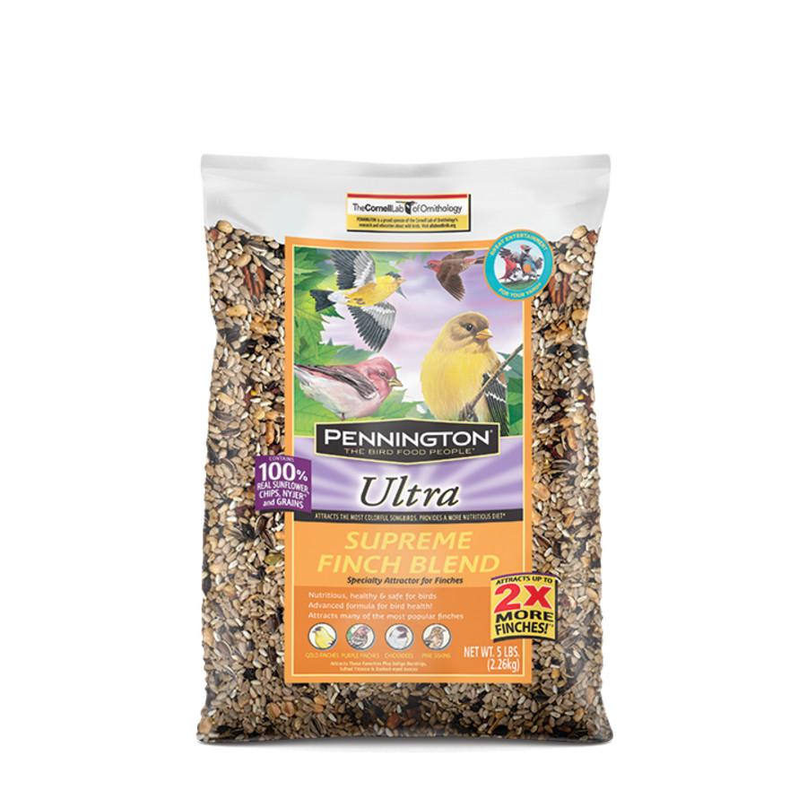 Pennington Ultra Supreme Finch Blend Bird Food 8ea/5 lb