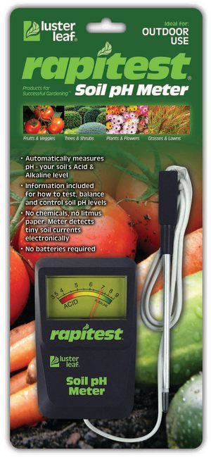 Luster Leaf Rapitest Soil pH Meter Black 6ea/4 in