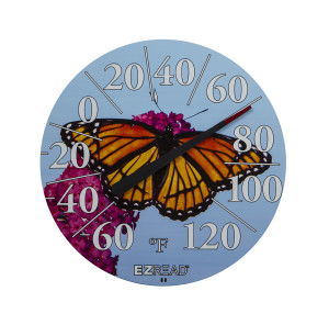 E-Z Read Dial Thermometer with Butterfly Multi-Color 6ea/12.5 in