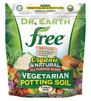 Dr. Earth Free All Purpose Potting Soil 8ea/6 qt