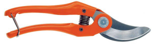 Bahco 9in Bypass Pruner with Steel Handles & Wire Clasp Lock & 1in Cut 6ea