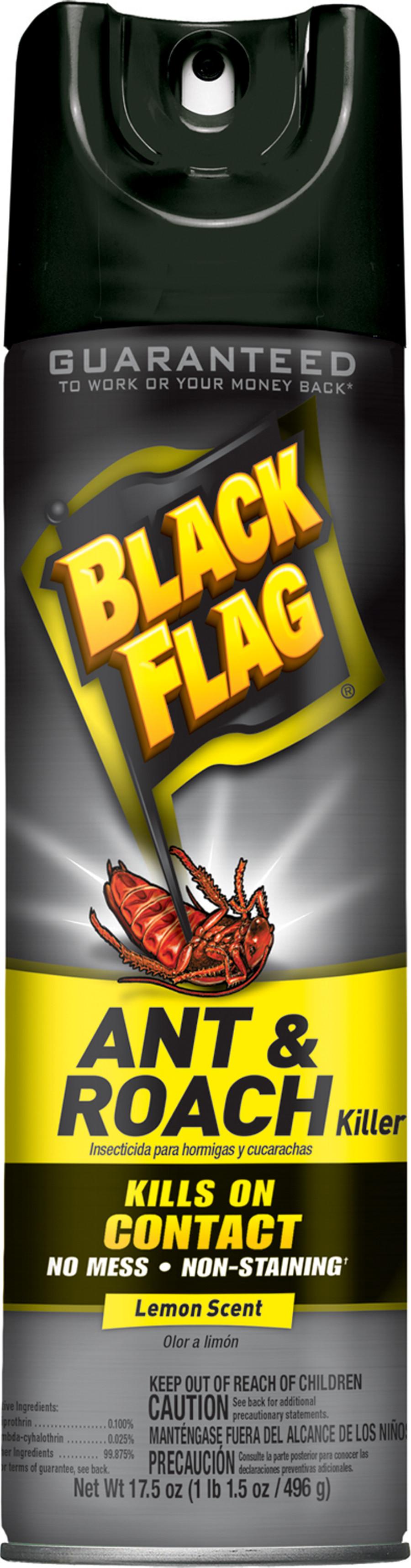 Black Flag Ant & Roach Killer Aerosol Lemon Scent 12ea/17.5 oz