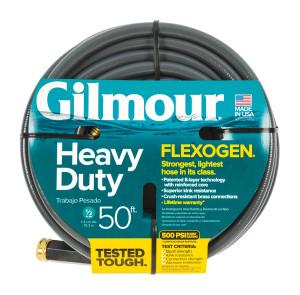 Gilmour Flexogen Premium Hose Heavy Duty Grey 6ea/1/2Inx50 ft