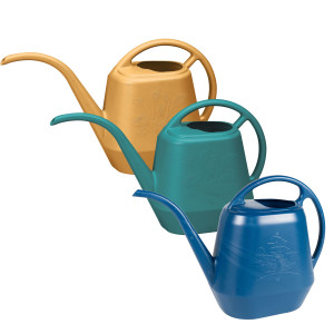 Bloem Aqua Rite Watering Can Earthy Yellow, Bermuda Teal, Deep Sea 12ea/56 oz