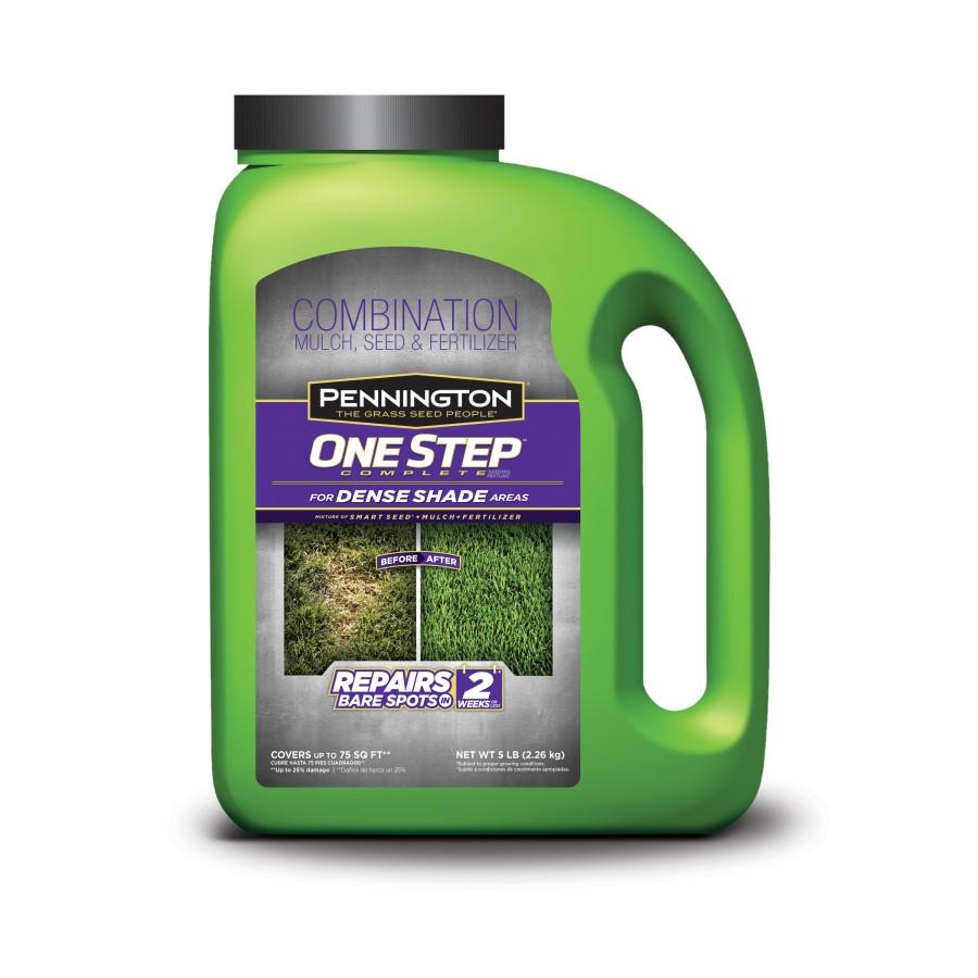 Pennington One Step Complete Dense Shade Grass Seed, Mulch & Fertilizer Jug 4ea/5 lb