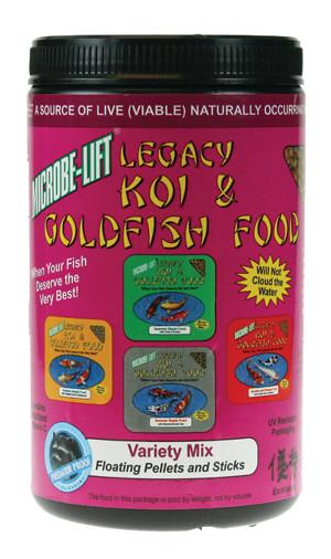 Ecological Laboratories Legacy Koi & Goldfish Food Variety Mix 12ea/11 oz