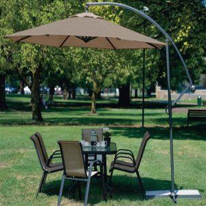 Coolaroo Cantilever Round Patio Umbrella Mocha 1ea/10 ft