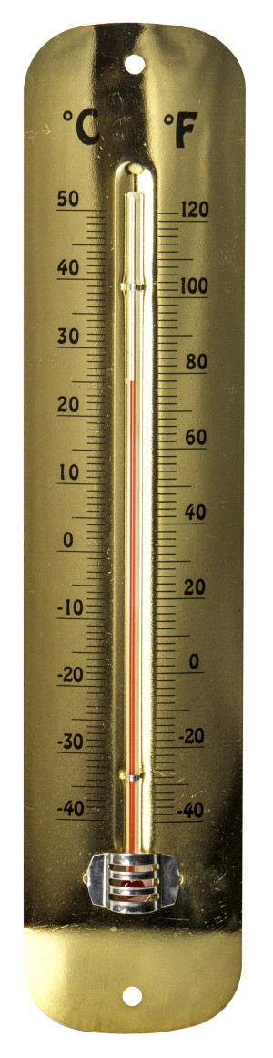 E-Z Read Thermometer Antique Brass Metal 6ea/12 in