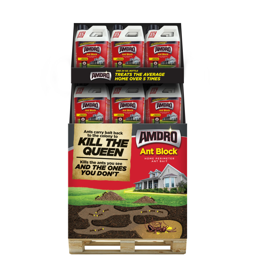 Amdro Ant Block Home Perimeter Ant Bait Granules Quarter Pallet 48ea/24 oz