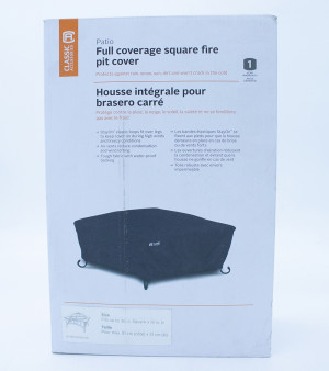 Classic Accessories Full Coverage Fire Pit Cover Square Black 2ea/36 in