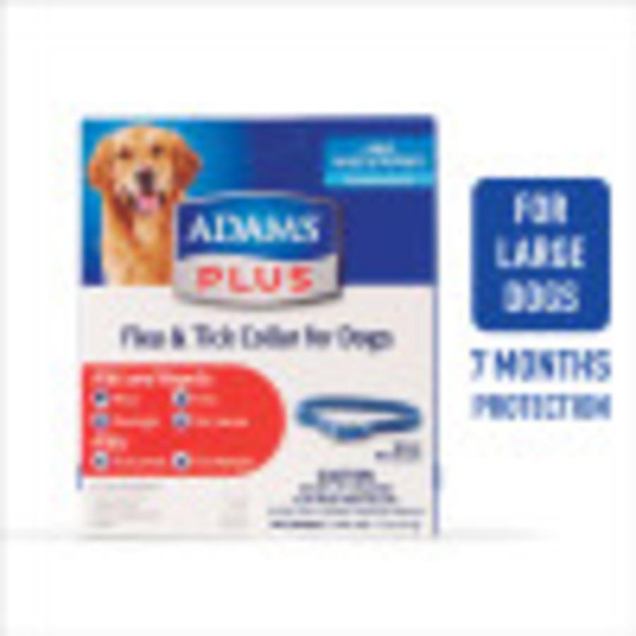 Adams Plus Flea & Tick Collar for Dogs & Puppies Blue 6ea/Large