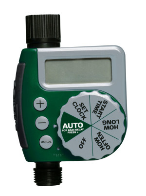 Orbit Digital Single Outlet Hose Water Timer Clam Green 4ea