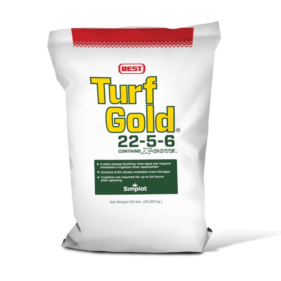 Best Turf Slow Release Fertilizer 22-5-6 Contains X-Cote Gold 1ea/50 lb
