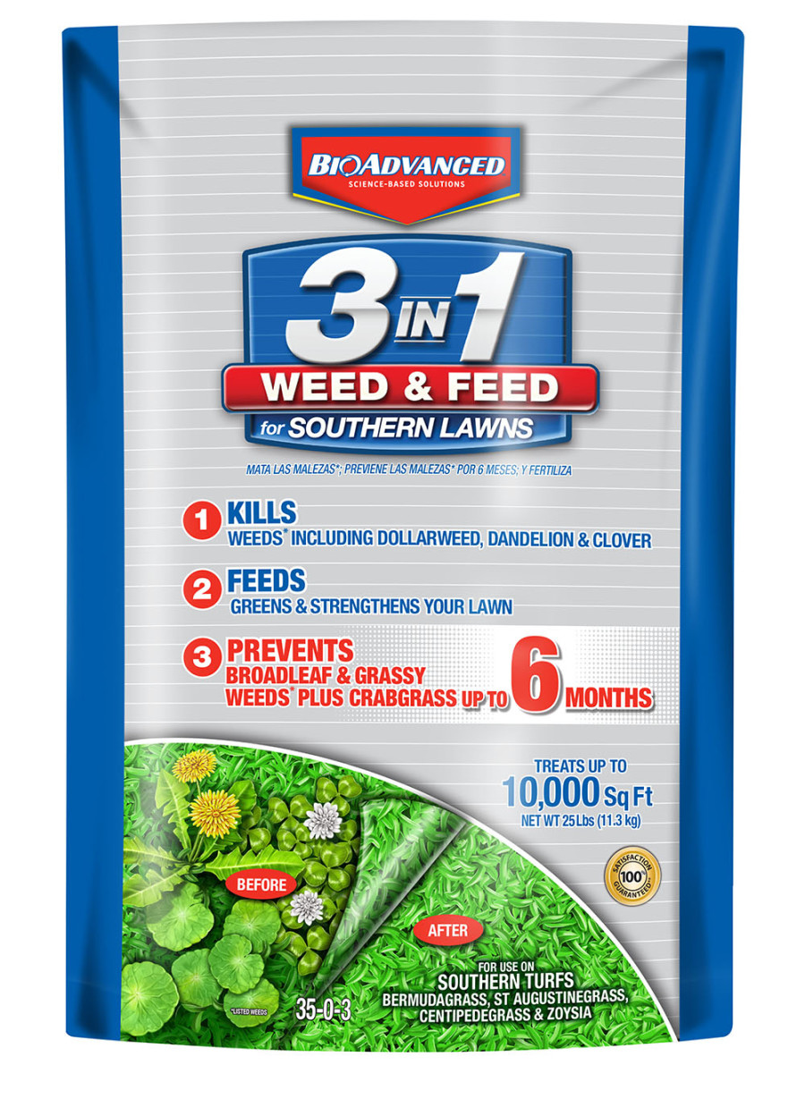 BioAdvanced 3-in-1 Weed & Feed for Southern Lawns 1ea/25 lb
