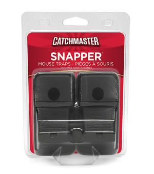 Catchmaster Snapper Mouse Traps Plastic Black 12ea/2 pk