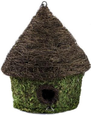 Supermoss Bungalow Woven Birdhouse Fresh Green 6ea/9.5Inx10.5 in