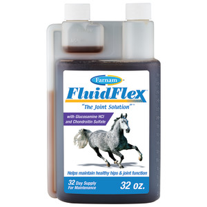 Farnam Fluidflex Liquid Joint Supplement for Horses, Helps maintain healthy hip & joint function, 6ea/32 oz, 32 Day Supply