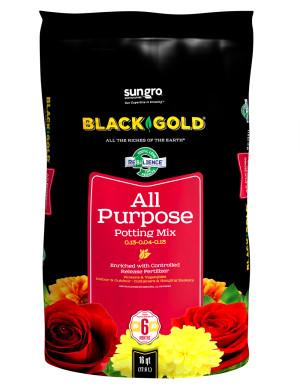 Black Gold All Purpose Potting Soil 1ea/0.13-0.04-0.13, 16 qt