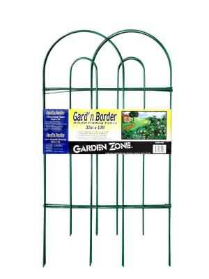 Garden Zone Gard'n Border Round Folding Fence Green 10ea/32Inx10 ft