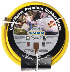Dramm ColorStorm Premium Rubber Hose Yellow 6ea/5/8Inx50 ft