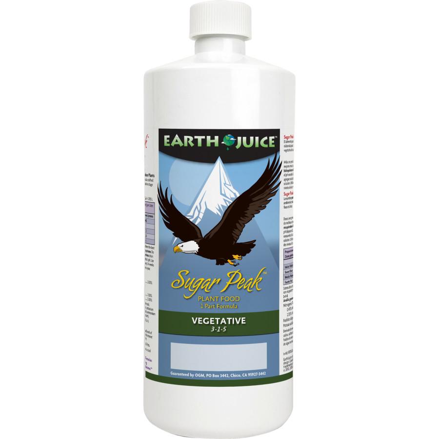 Earth Juice Sugar Peak Vegetative 3-1-5 Plant Food 12ea/32 oz