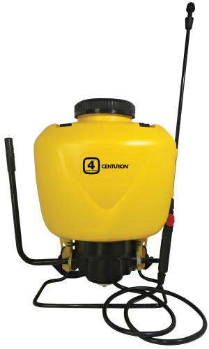 Centurion Multi-Hand Backpack Garden Pressure Sprayer 4ft Hose Yellow 1ea/4 gal