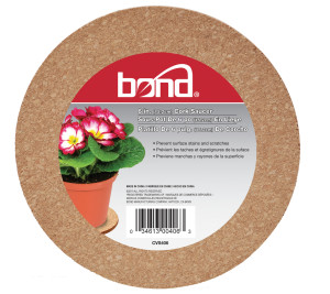 Bond Cork Saucers Brown 12ea/6 in