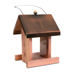 Pennington Copper Roof Songbird Villa Seed Feeder Brown, Red, Copper 2ea