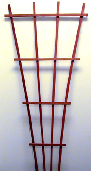 JJ Roberts Fan Trellis Redwood Stain Without Labels Fan Red 6ea/6 ft