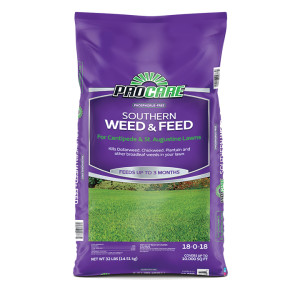 Pro Care Southern Weed & Feed for Lawns Phospherous Free 18-0-18 50ea/10M 32 lb