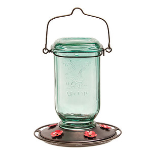 Classic Brands More Birds® Mason Jar Hummingbird Feeder Mason Jar Aqua 4ea/25 oz