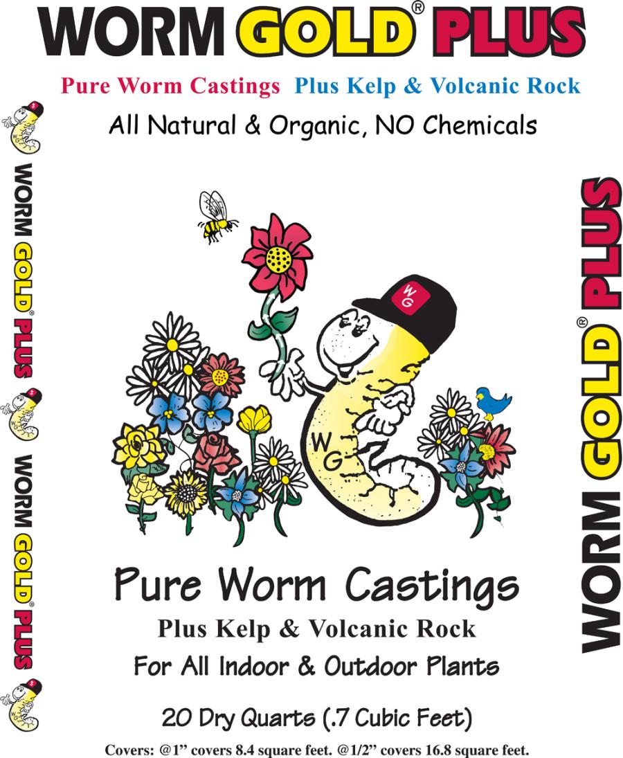 Wormgold Plus Worm Castings Natural & Organic Soil Amendment 1ea/20 qt