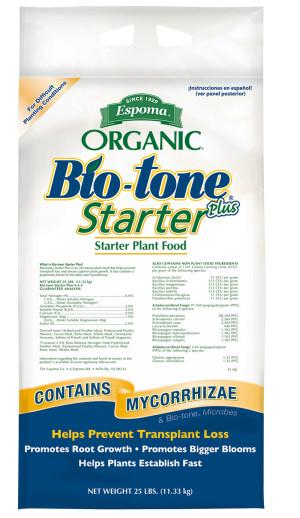 Espoma Organic Bio-tone Starter Plus Plant Food 4-3-3 1ea/18 lb