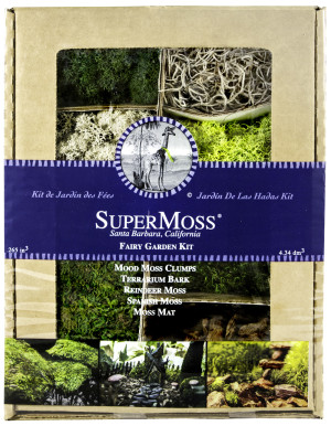 Supermoss Fairy Garden Kit Mixed Mosses Display Box 12ea/4 oz