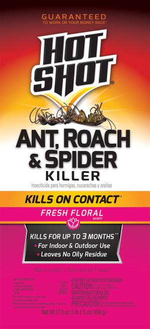 Hot Shot Ant, Roach & Spider Killer Fresh Floral Aerosol